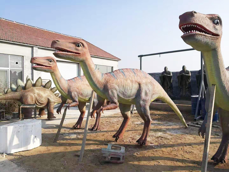 仿真恐龙雕塑项目完工(组图)