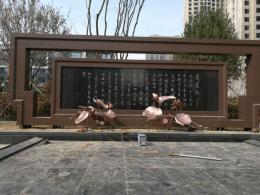 锻铜荷花雕塑