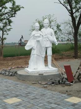董永七仙女雕塑