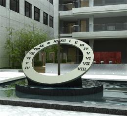 """不锈钢雕塑——""""日晷"""""""